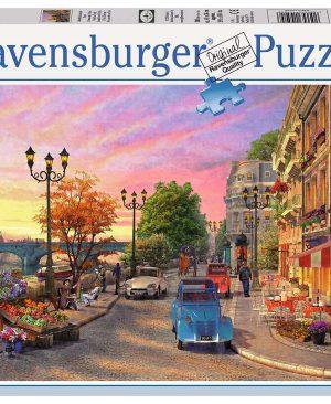 Puzzel ravensburger Avondsfeer in Parijs 500pcs