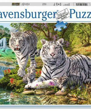 Puzzel ravensburger Witte roofkatten 500pcs