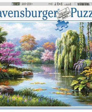 Puzzel ravensburger Romantiek bij de vijver 500pcs