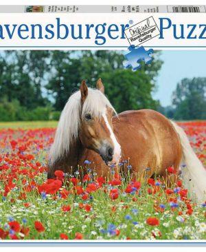 Puzzel ravensburger Paard tussen de klaprozen 500pcs