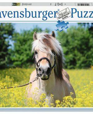 Puzzel ravensburger Paard tussen de bloemen 500pcs