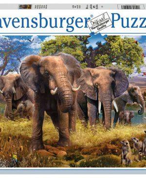 Puzzel ravensburger Olifantenfamilie 500pcs