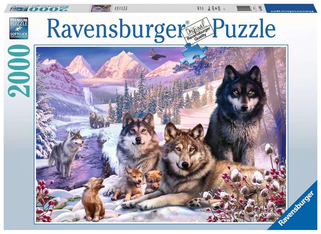 Puzzel Ravensbutger Wolven in de sneeuw 16012