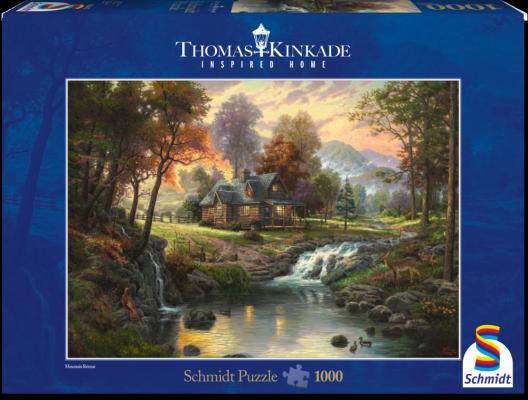 Mountain retreat 58445 – puzzel 1000 stuks – Schmidt Thomas Kinkade