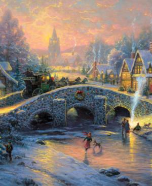Spirit of christmas 58450 - puzzel 1000 stuks Schmidt - Thomas Kinkade