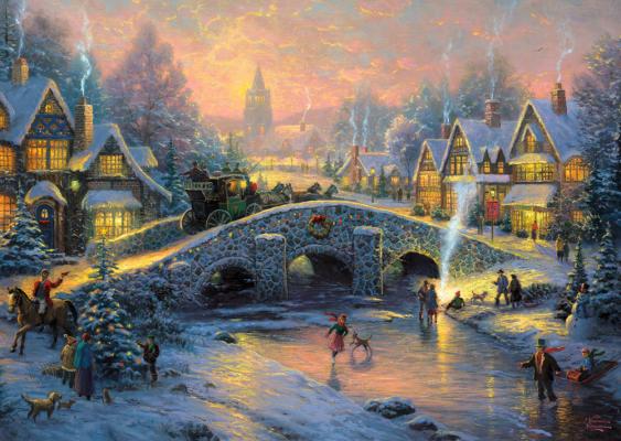 Spirit of christmas 58450 – puzzel 1000 stuks Schmidt – Thomas Kinkade