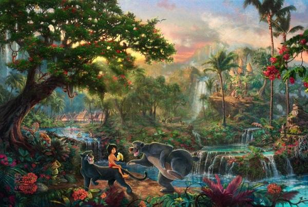 Jungle Book by Thomas Kinkade-SC59473-w-Schmidt