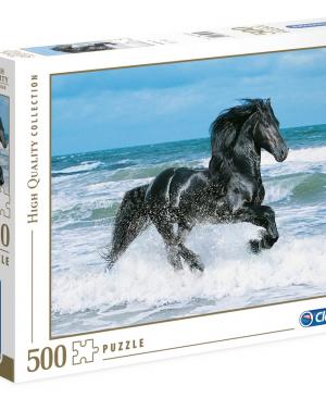 Clementoni - Black horse 30175 - puzzel 500 stuks