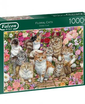 Falcon - Floral Cats 11246 - puzzel 1000 stuks