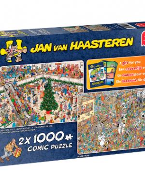 Jan van Haasteren - Black Friday en Chrismas mall 19098 - puzzel 1000 stuks