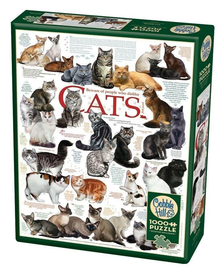 Cat Quotes 80095 puzzel 1000 stuks Cobble Hill