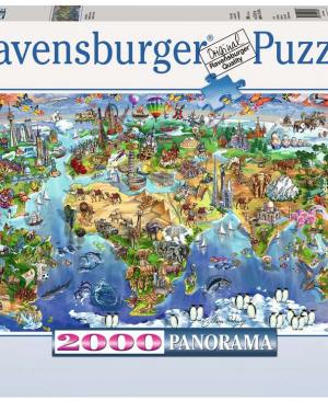 Wonderen van de wereld - Ravensburger -2000 stukjes