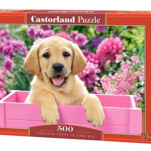 CP 52226 - Labrador puppy in pink Box - Castorland puzzel - 500 stuks