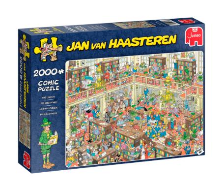 De Bibliotheek – Jan Van Haasteren – Puzzel Jumbo 2000 stuks