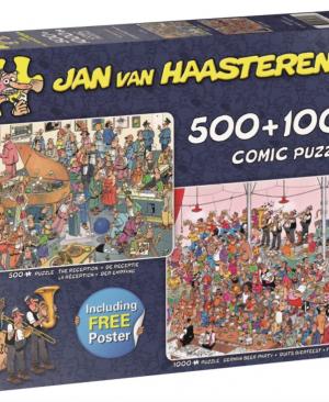 De receptie - Duits Bierfeest - Jan Van Haasteren - Puzzel Jumbo 500 en 1000 stuks