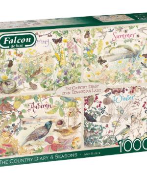 The Country Diary 4 Seasons - Falcon - Puzzel Jumbo 1000 stuks