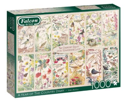 A Year of The Country Diary – Falcon – Puzzel Jumbo 1000 stuks