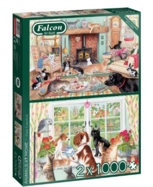 Animals at Home - Falcon - Puzzel Jumbo 1000 stuks