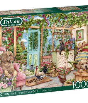 Country Conservatory - Falcon - Puzzel Jumbo 1000 stuks
