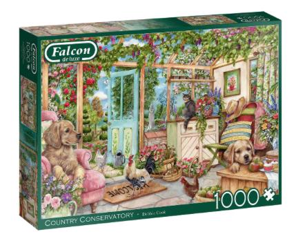 Country Conservatory – Falcon – Puzzel Jumbo 1000 stuks