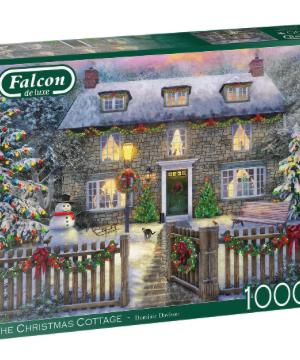 The Christmas Cottage - Falcon - Puzzel Jumbo 1000 stuks