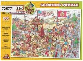Wereld Scouting Jamboree 1000 stuks 854 puzzelman