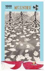 Escher Drie werelden / Vis - puzzel 1000 stuks