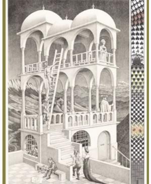 Escher Belvedere - puzzel 1000 stuks
