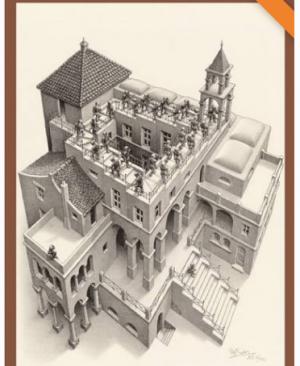 Escher - Klimmen en Dalen - puzzel 1000 stuks