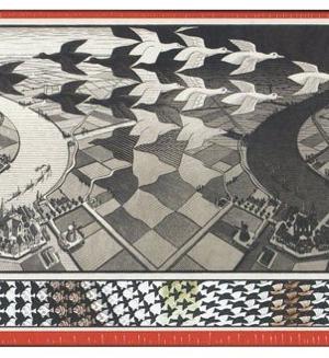 M.C.Escher - Day and Night -puzzel 1000 stuks