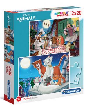 Disney Animal Friends - 2x20 stukjes - Clementoni 24764