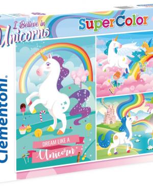 Unicorns - Clementoni 25231 - puzzel 3 x 48