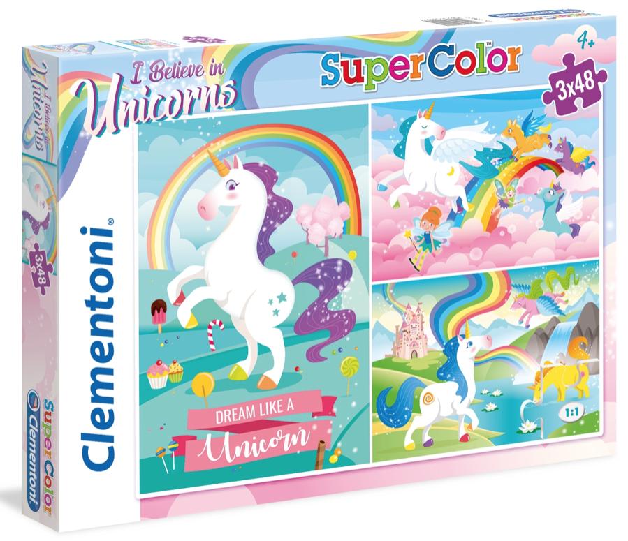 Unicorns – Clementoni 25231 – puzzel 3 x 48