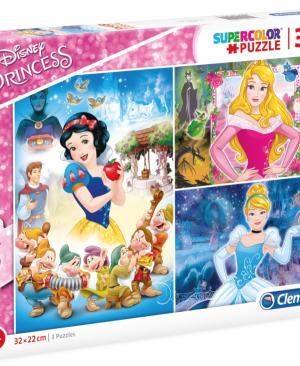 Princess - Clementoni 25211 - puzzel 3 x 48 stuks