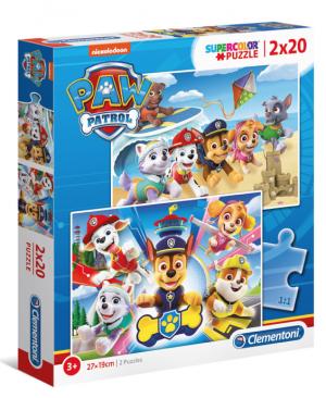 Pas Patrol - Clementoni 24776 - puzzel 2 x 20 stuks