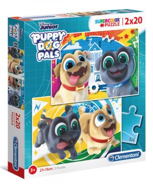 puppy dog pals - Clementoni 24767 - puzzel 2 x 20 stuks