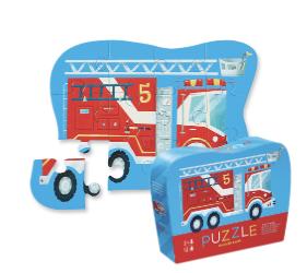 Fire Truck - puzzel 12 stuks - 2+jaar - Crocodile Creek 384115