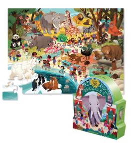 Day at the Zoo - puzzel 48 stuks - Crocodile Creek 3840634