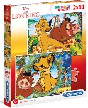 Lion King - puzzel 2 x 60 stuks - Clementoni 21604