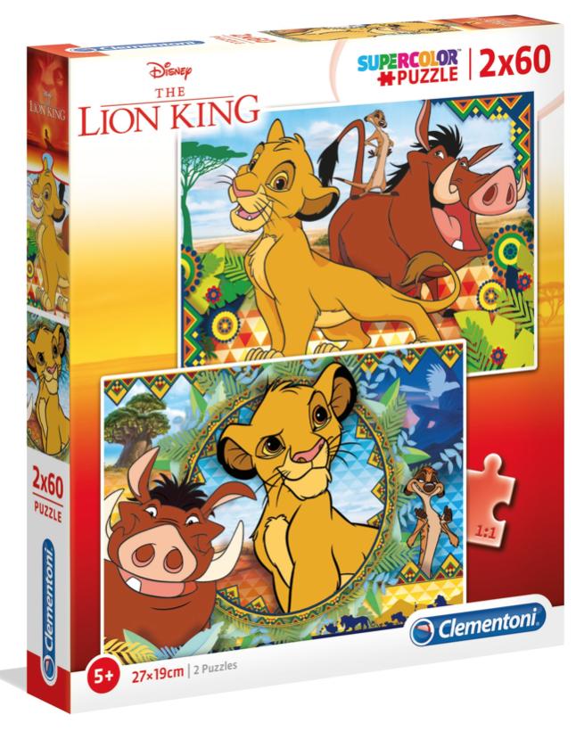 Lion King – puzzel 2 x 60 stuks – Clementoni 21604