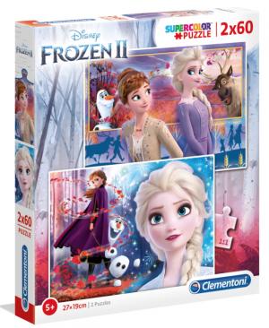 Frozen 2 - puzzel 2 x 60 stuks - Clementoni 21609