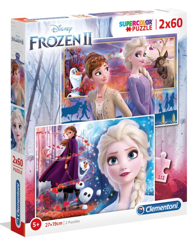 Frozen 2 – puzzel 2 x 60 stuks – Clementoni 21609