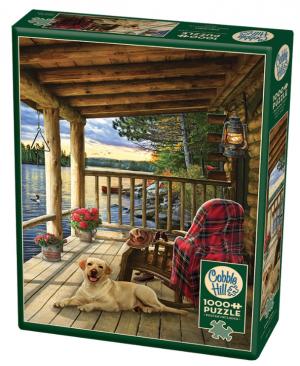 Cabin Porch - puzzel 1000 stuks - Cobble Hill 80005