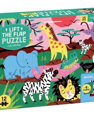 On Safari - Lift the Flap Puzzel 12 stuks - Mudpuppy 256276