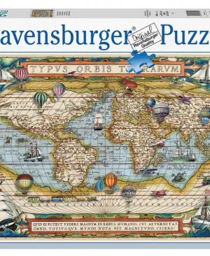 De Wereld rond - puzzel 2000 stuks - Ravensburger 16825