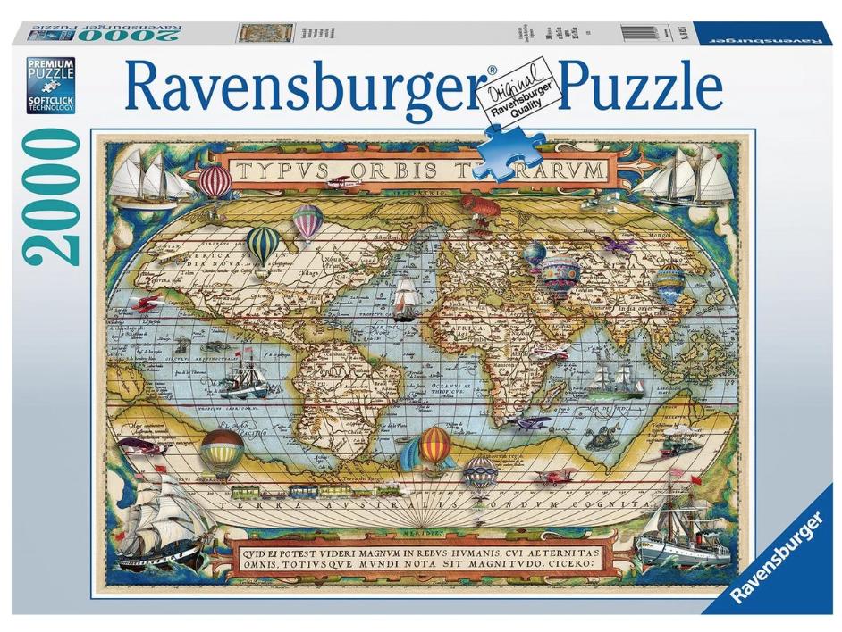 De Wereld rond – puzzel 2000 stuks – Ravensburger 16825