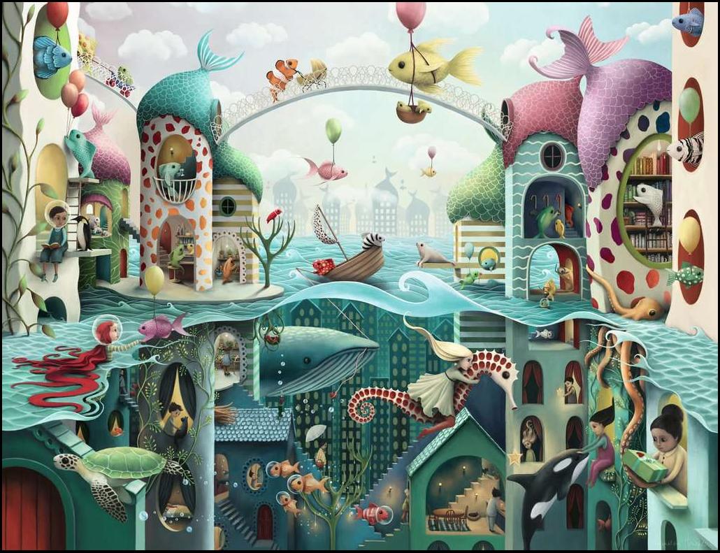 Als vissen konden lopen – puzzel 2000 stuks – Ravensburger 16823
