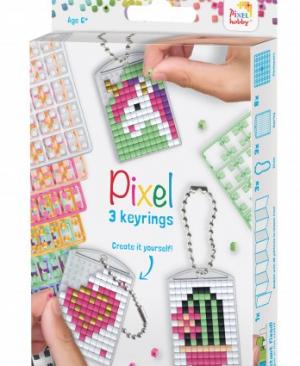 Sleutelhanger set - Schattig - pixelhobby - pixelcraft