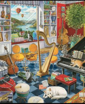 De muziekkamer - puzzel 500 stuks - Ravensburger 168361