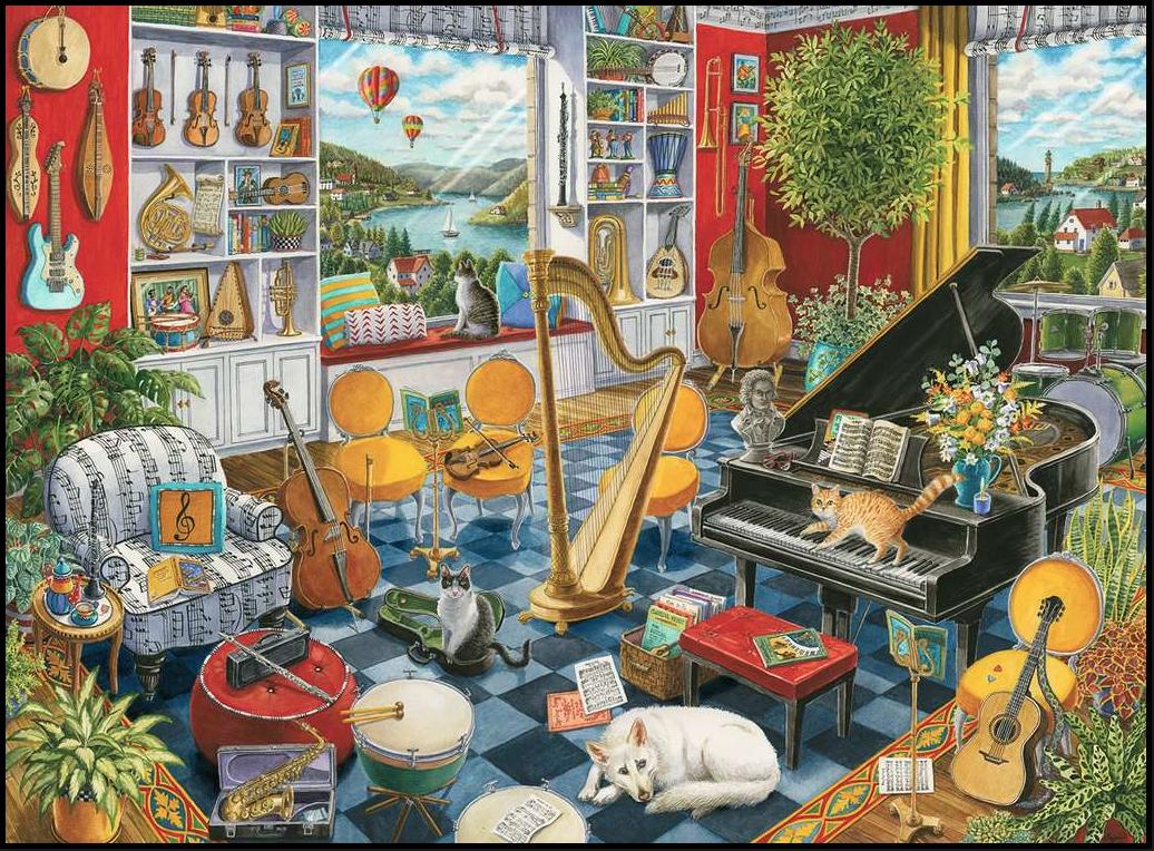 De muziekkamer – puzzel 500 stuks – Ravensburger 168361